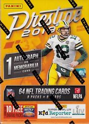 2019 Panini Prestige Football sealed blaster box 8 packs of 8 NFL cards 1 hit