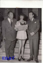 Director David Butler Mary Byrne sexy leggy Bob Hope candid VINTAGE Photo