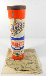 1957 Spalding Original Tinkertoy with colorsafe rods w Directions $7.49