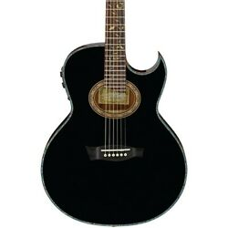Ibanez Euphoria Steve Vai All Solid Wood Acoustic-Electric Guitar Black Gloss