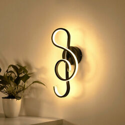 Music Notes Wall Lamps Modern Bedroom Bedside Lamp Nordic Wall Lights for Home $49.46