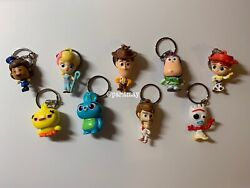Toy Story 4 COMPLETE SET Keychain Buddy Surprise Bag From Thinkway Toys