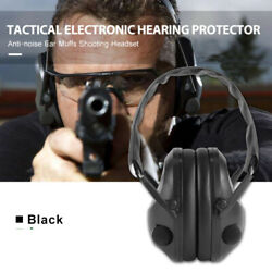 ELECTRONIC NOISE CANCELLING HEADPHONE EARMUFFS 70DB FLASH NOISE REDUCTION NEW