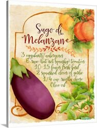 Tuscan Kitchen Canvas Wall Art Print Vegetables Home Decor $29.99