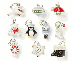 Lenox Christmas Memories 10 Mini  Ornament Set