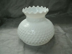 Vintage Milk Glass HOBNAIL Student Lamp Shade 7