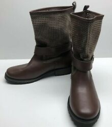 New Skechers Womens Boots Size 6 Brown Preforated Slouch Shaft $43.95