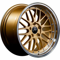 4 - 18x8 Gold Wheel JNC JNC005 5x112 34