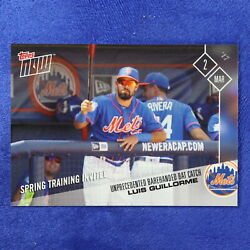2017 Topps Now Card #ST-3: New York Mets Luis Guillorme