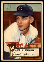 1952 Topps #127 Paul Minner EX Excellent RC Rookie Cubs