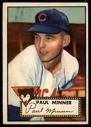 1952 Topps #127 Paul Minner EX RC Rookie Cubs