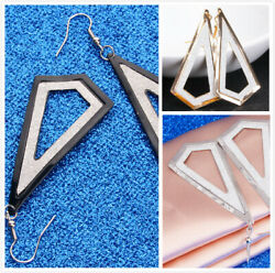 New Woman Stylish Ear Jewelry Metal Irregular Long Paragraph Pendant Earring LD $1.31