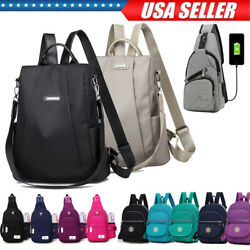Women Girls Shoulder School Bag Laptop Backpack Travel Outdoor Satchel Sling Bag