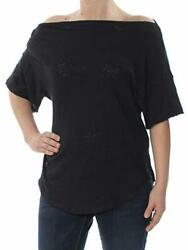 Free People Women's She's So Cool Tee Black Small