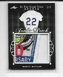 2019 LEAF IN THE GAME SPORTS BRETT BUTLER 6 COLOR LOGO JUMBO PATCH CARD # 11