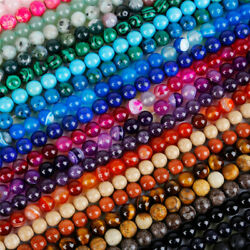 Lots Natural Gemstone Round Spacer Loose Beads Choose 4MM 6MM 8MM 10MM 12MM C $1.99