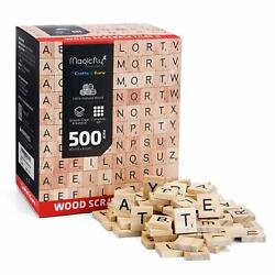 5001000Pcs Wooden Scrabble Tiles Letters For Crafts Wood Alphabet Board Toy