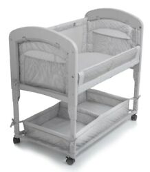 Arm's Reach Cambria Baby Co-Sleeper Bedside Bassinet Grey NEW