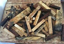 Cut Off Turning Blanks  - dozens of pieces-  Exotic Wood - #CO-1