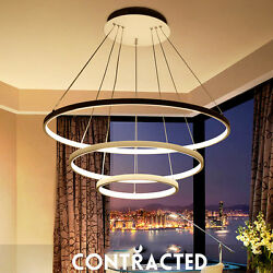 Acrylic LED Chandelier Ring Bedroom Hanging Lamp Ceiling Pendant Fixtures Light $399.00