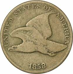 1858 Flying Eagle Cent Large Letters VG Uncertified $39.00