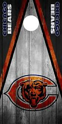 SINGLE Chicago Bears Cornhole Wrap Skin Decal Vinyl NFL Game Board Logo DT46