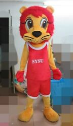 Handmade Cartoon Red Lion Mascot Costume Cosplay Party Dress Clothing Carnival $306.00