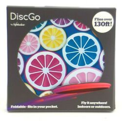 DiscGo Foldable Fits In Your Pocket Flies Over 130 Feet Frisbee Foldable NEW $15.87