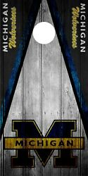 SINGLE Michigan Wolverines Cornhole Wrap Skin Decal Vinyl NCAA Logo Game DT144
