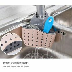 Kitchen Organiser Sink Caddy Basket Dish Cleaning Sponge Holder Soap Dispenser $5.99