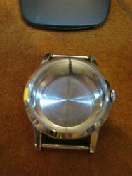 A -NO-NAME- BRAND- 33.3 MM SILVER TONE WRIST WATCH CASE-ONLY
