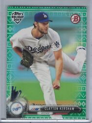 CLAYTON KERSHAW 2017 Bowman Topps Holiday Ugly Sweater Green #1199 #CK  D6503 $5.95