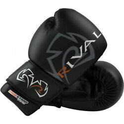 Rival Boxing Workout Hook and Loop Sparring Gloves - Black