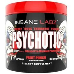INSANE LABZ PSYCHOTIC PRE WORKOUT 35 Servings FREE SHIPPING Multi Flavors Avail.