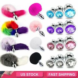 Cosplay False Fox Tail With Metal Anal-Butt Plug Funny Toy Games Rabbit Tail $6.79