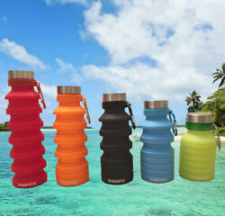 Collapsible Water Bottle, BPA Free Silicone Foldable Travel Water Bottle $11.99