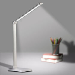 LED Desk Lamp 3 Color Modes Touch USB Chargeable Reading Eye-protect Table Light