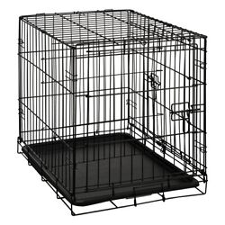 CARLSON WIRE DOUBLE DOOR SMALL CRATE BLACK 24quot; *DISTRESSED PACKAGING* $39.99