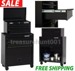 CRAFTSMAN 26-in W x 44-in H 5-Drawer Ball-Bearing Steel Tool Chest Combo