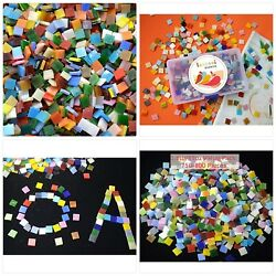 Lanyani 800 Pieces Mosaic Tiles Stained Glass - Assorted Colors for Art Craft an