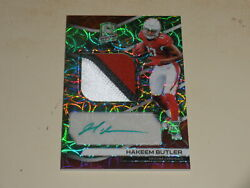 2019 Panini Spectra Rookie Neon Green PATCH Auto RPA Hakeem Butler RC 4650