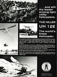 1978 Hiller UH 12 E Helicopter Aircraft ad 9 19 19g $8.99