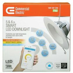 Commercial Electric T62 5 or 6 in. Recessed Smart LED Dimmable Downlight NOS