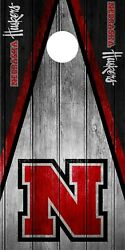SINGLE Nebraska Cornhuskers Cornhole Wrap Skin Decal Vinyl NCAA Logo DT183
