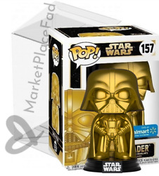 Funko POP! Star Wars - Walmart Exclusive - #157 Gold Darth Vader - WProtector