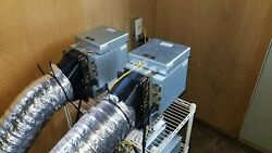 Antminer S11 20Ths Bitcoin Miner w PSU & Heat Duct Vents US Seller Fast Ship!