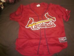 2000#x27;s St. Louis Cardinals Game Used Batting Practice Jersey #38 Marty Mason LOA $150.00