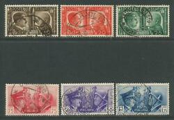 Italy 1941 Rome-Berlin Axis--Attractive Topical (413-18) fine used $13.97