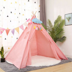 Pink Large kids Girl Teepee Play Tents Children Gaming Play House Sleeping Dome