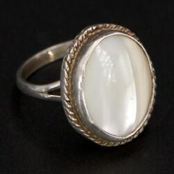 VTG Sterling Silver - NAVAJO Mother of Pearl Ring Size 5.5 - 3g